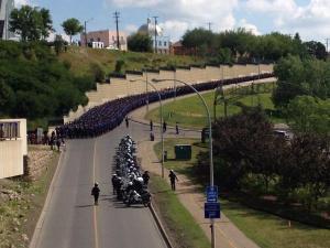 police procession