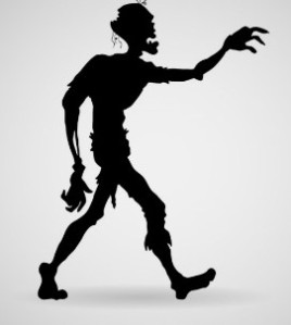 zombie-vector-character-silhouette, murderincommon.com, horror movies, zombies, thrillers, suspense, terror