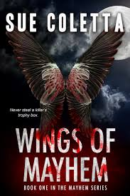 wings of mayhem, sue coletta, suspense thriller, murder in common