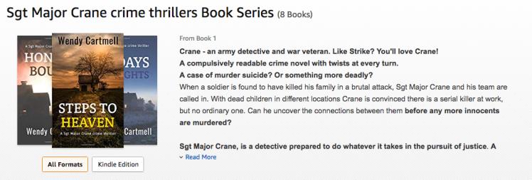 Sft. Major Crane Crime Series