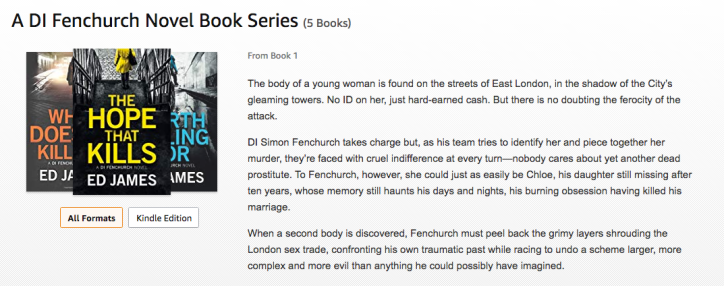 DI Fenchurch Novels